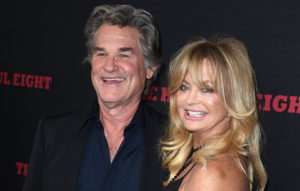 "HOLLYWOOD, CA - DECEMBER 07: Kurt Russell and Goldie Hawn arrives at the Premiere Of The Weinstein Company's ""The Hateful Eight"" at ArcLight Cinemas Cinerama Dome on December 7, 2015 in Hollywood, California. (Photo by Steve Granitz/WireImage)"