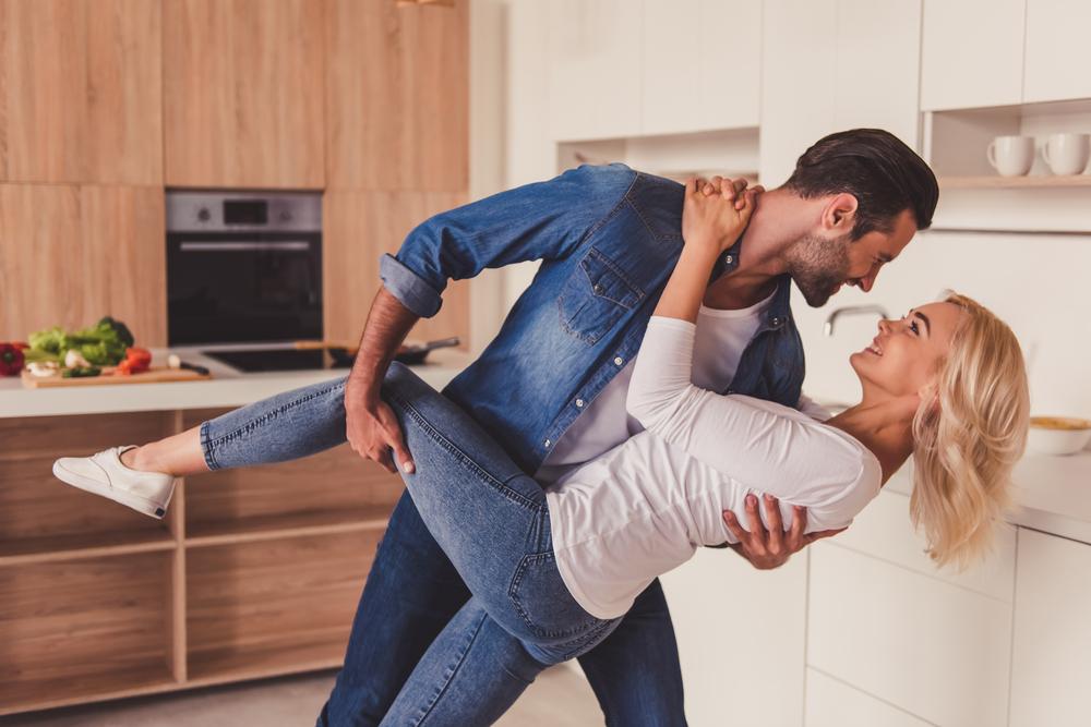 couple doing a romantic ballroom dance